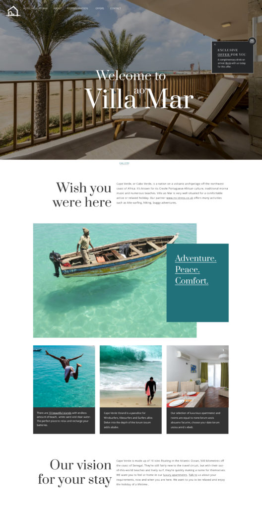 UI DESIGN FOR VILLA AO MAT BY SANDRA STAUFER