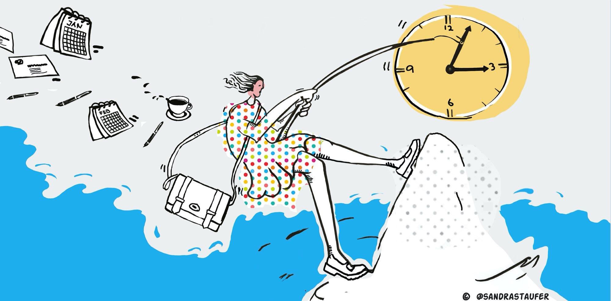 SANDRA STAUFER ILLUSTARTION FOR HEADS-UP COACHING time management