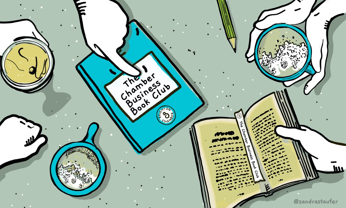 Illustration 'Bookclub' for brighton Chamber of Commerce by Sandra Staufer
