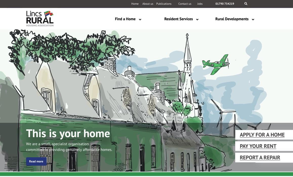 ILLUSTRATION WEBSITE HERO BY SANDRA STAUFER FOR HOUSING ASSOCIATION