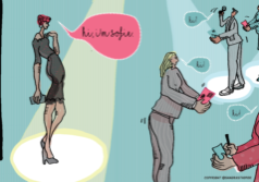 KEEPING UP WITH THE NETWORKING FRENCY, ILLUSTRATION BY @SANDRASTAUFER